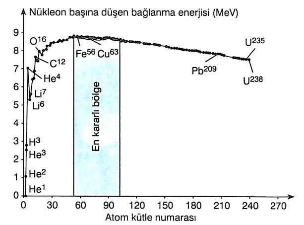 Bütün atomlar iki tür tanecikten oluşur. Proton ve nötronlar. Bunun tek istisnası hidrojen atomunun çekirdeğidir. Hidrojen çekirdeği yalnızca bir protondan oluşur. Proton ve nötronlar için ortak bir isim olan nükleon da kullanılır.