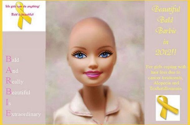 Barbie senza #capelli: campagna per aiutare i bambini #sociale