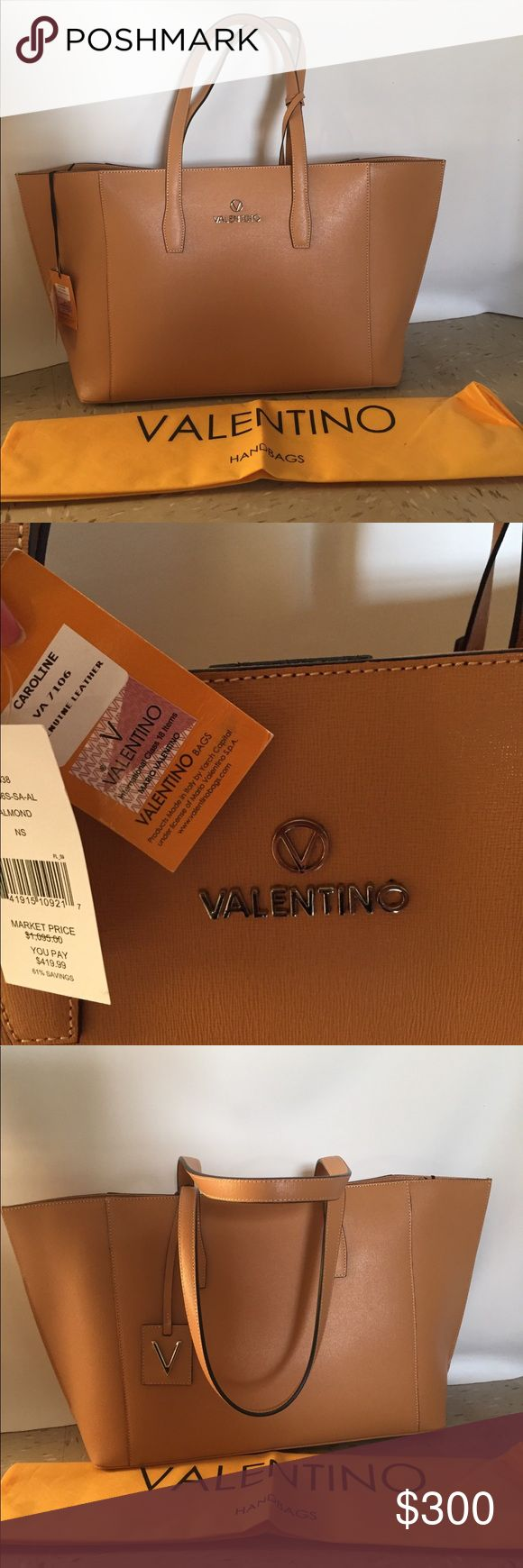 Valentino By Mario Valentino Caroline tote Authentic sold at at saksofffith Valentino By Mario Valentino Tote  Refer to picture for bag measurements and details ☺️ Mario Valentino Bags Totes