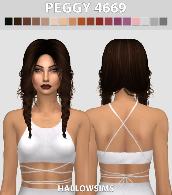 Sims 4 CC's - The Best: Peggy Hair by HallowSims