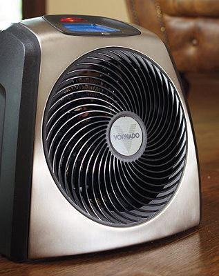 This portable heater uses Vortex technology to quietly circulate warm air throughout a room.