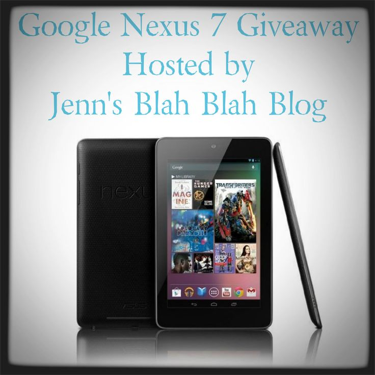 Enter to #win a Google Nexus 7! Swing by don't miss this fabulous #giveaway    I really really really want to win this.....however I've entered a crapload of contests for one and I never seem to win ugh!!! good luck everyone (including myself )