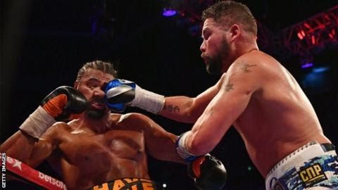 """Tony Bellew (right) was fighting in his first bout at heavyweight when he beat Haye in March  David Haye says he has agreed terms for a heavyweight rematch with Tony Bellew.  After  a fiery pre-fight build-up WBC cruiserweight world champion Bellew  stopped his rival in the 11th round in their first meeting in March. Haye injured an Achilles in the sixth round before falling to his third career defeat.Haye tweeted: """"It's taken months of negotiating but teams have finally agreed all terms for…"""