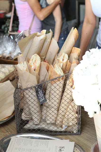 Sandwich display for the special footlong french breads