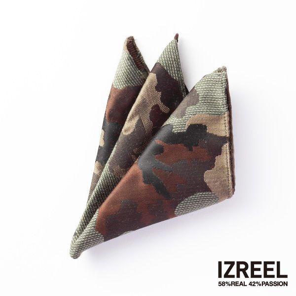 《IZREEL》 ポケットチーフ/カモフラージュ|LOUNGE WEDDINGのガーランド・リングピロー