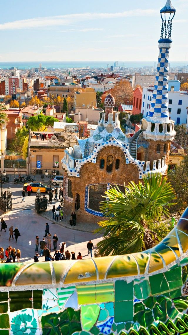 Whoville? No! It's Gaudi Park in Barcelona  Spain.