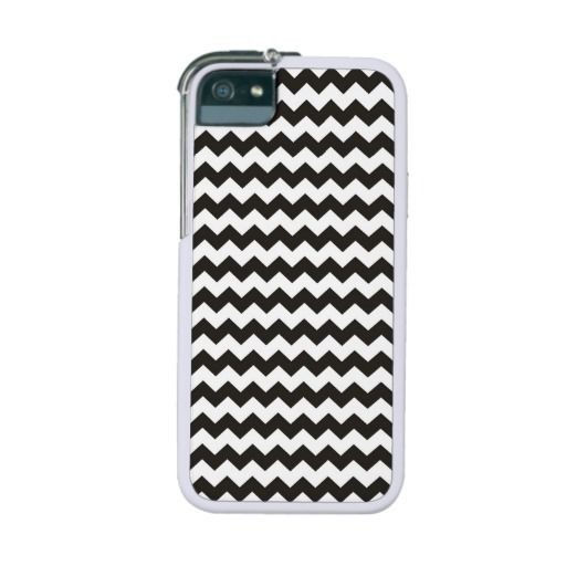 Aztec Chevron black and white Pattern zigzag stripes iPhone 5 case