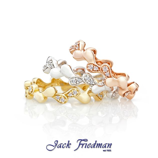Round leaf stack rings jackfriedman.co.za