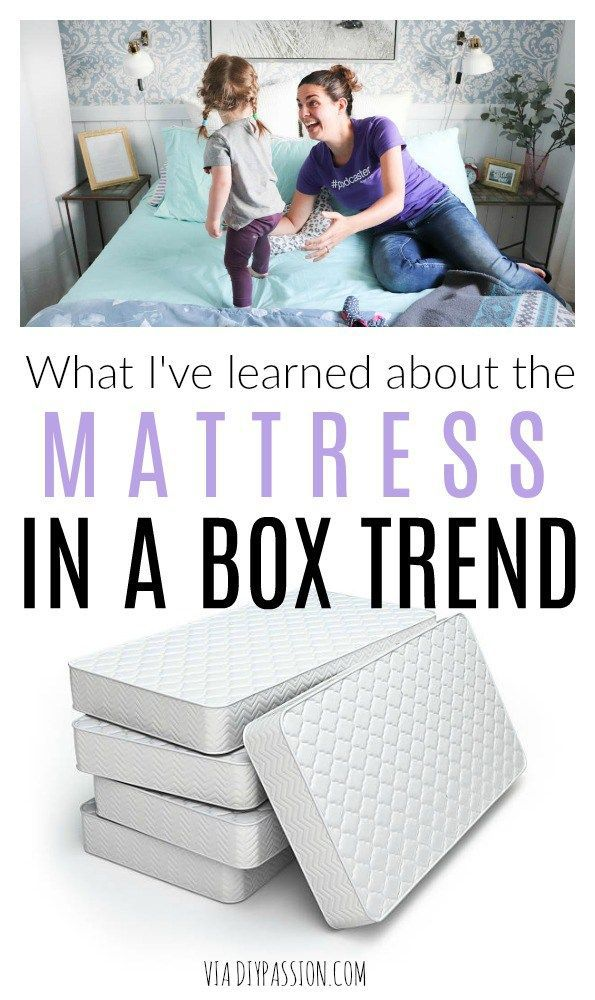 What I Ve Discovered About The Mattress In A Box Trend Diy Passion In 2020 Kids Mattress Mattress Mattress Comparison