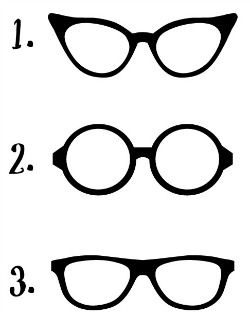 Printable Glasses Template | To print style number one, click HERE . For style number two, click ...