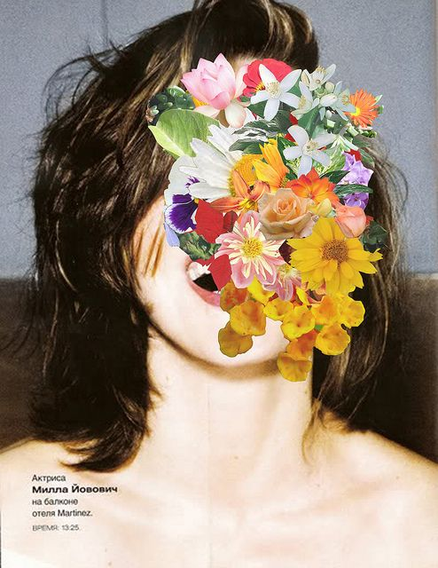 Juh Ore Duh Anne, flower face explosion over photograph