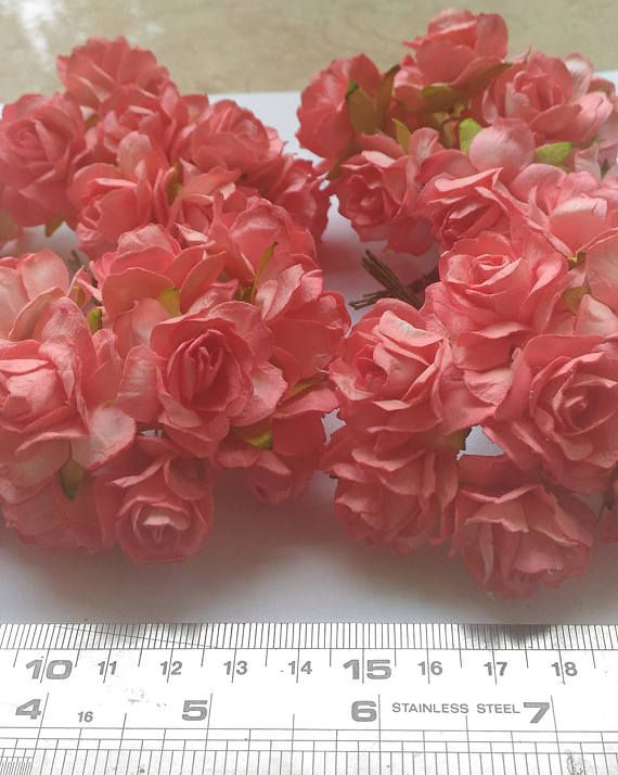 The 10 best mulberry roses paper flowers images on pinterest roses 50 big light red mulberry roses paper flowers size 3 cm 12inch wholesale bulk mightylinksfo