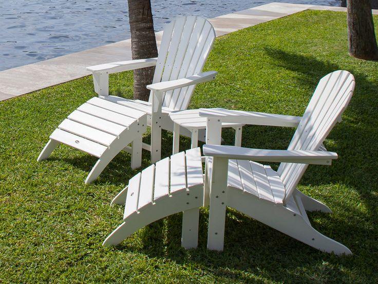 POLYWOOD® Seashell Recycled Plastic Adirondack Chair   SH22