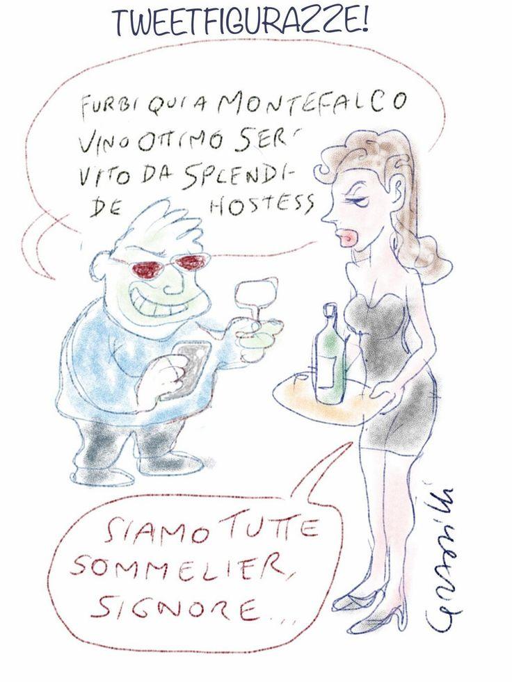 Scarabocchiando #InMontefalco vignetta di @Roberto Grassilli