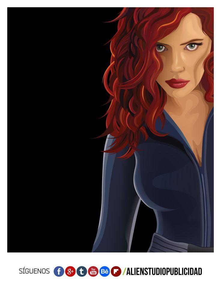 Black Widow v. Iron Man 2  Hacemos publicidad, pero en mis ratos libres me doy el gusto de vectorizar personajes.