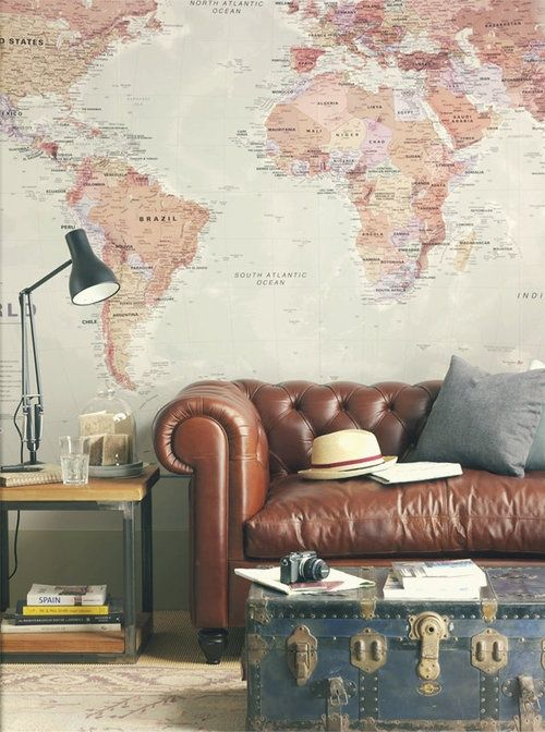 loooove the map wall