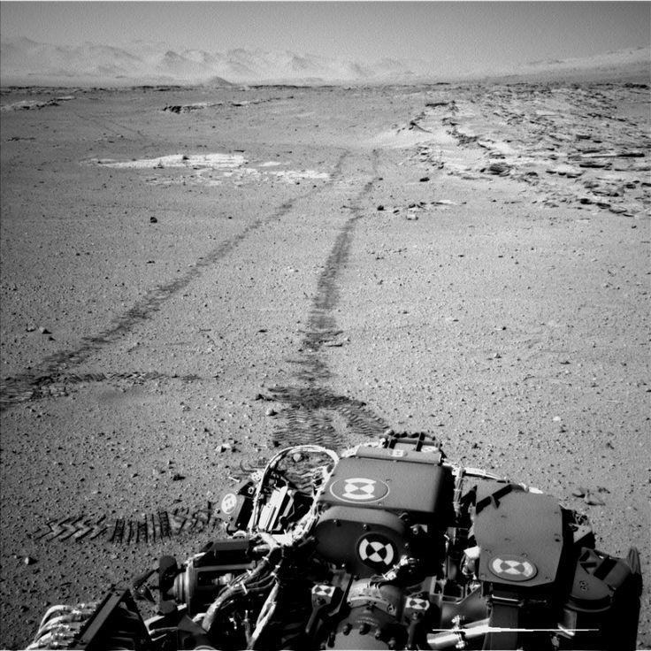 Curiosity's view back