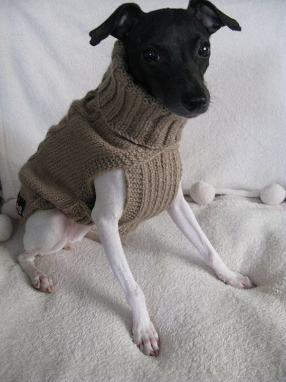 classic cable hand knitted dog or pet sweater - MADE TO MEASURE for a perfect fit - acrylic yarn