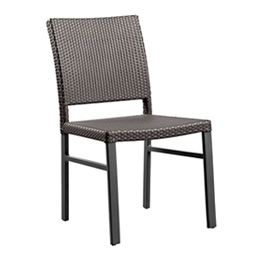 Belize Cahir This item is hand woven with a Synthetic cane fiber (Polyethylene based) which is tear proof, colorfast, resistant to UV light and 100 % recyclable. The frame is made of Aluminum and is powder coated. The combination of both materials makes each piece totally weatherproof. The furniture can be rinsed with a hose pipe.. Material:Polycane / Aluminum Size:W: 500 D: 540 H: 880