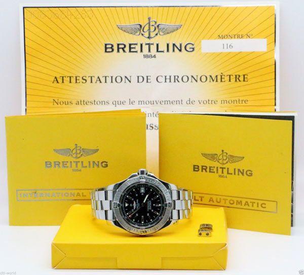 Breitling Colt Automatic A17380 Black Dial SS Mens Watch - http://menswomenswatches.com/breitling-colt-automatic-a17380-black-dial-ss-mens-watch/ COMMENT.
