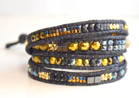 Beaded Wrap Bracelet Boho Chic Bracelet 4 by NiceBraceletStudio