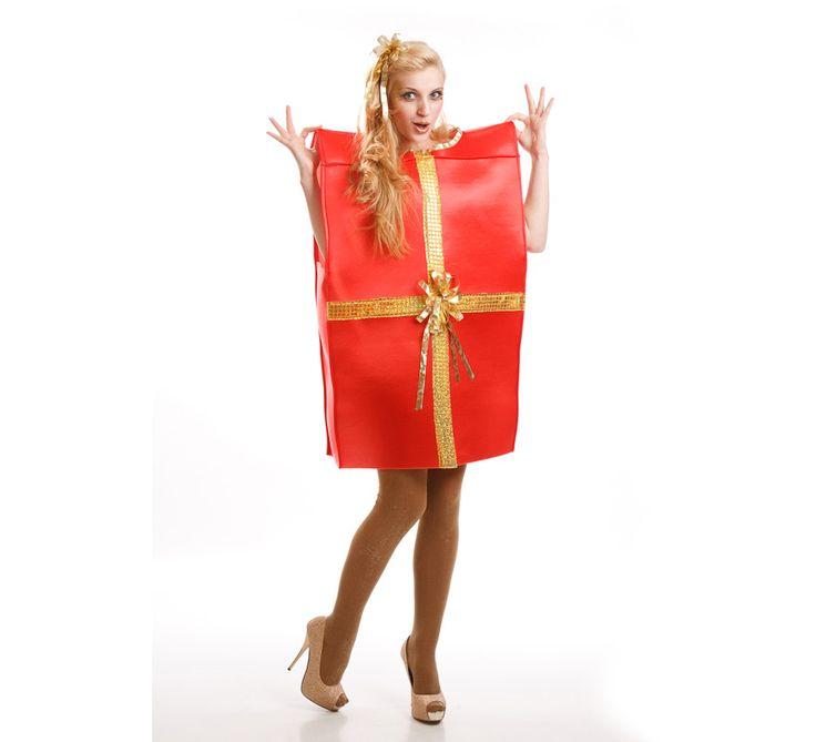 Disfraz de caja de regalo para adultos disfrazzes disfraces originales navidad diy - Disfraces navidenos originales ...