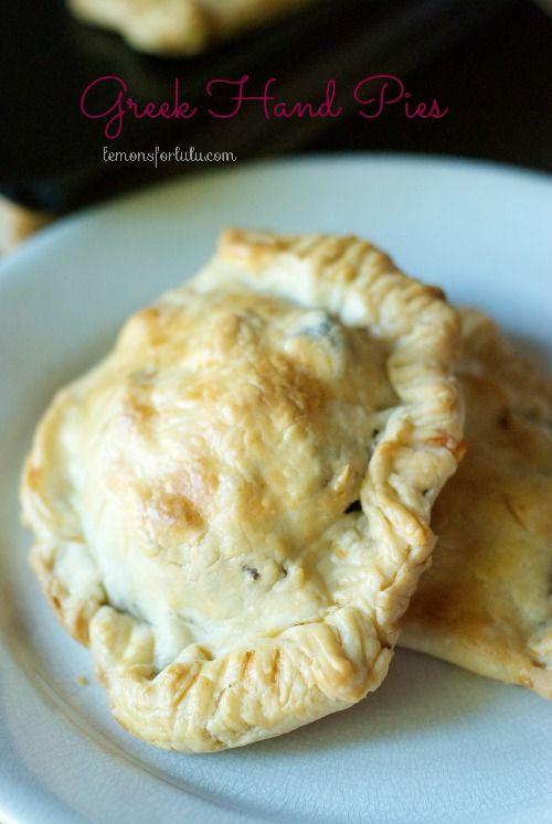 A savory hand pie filled with ground beef, veggies and Greek seasoning. www.lemonsforlulu.com