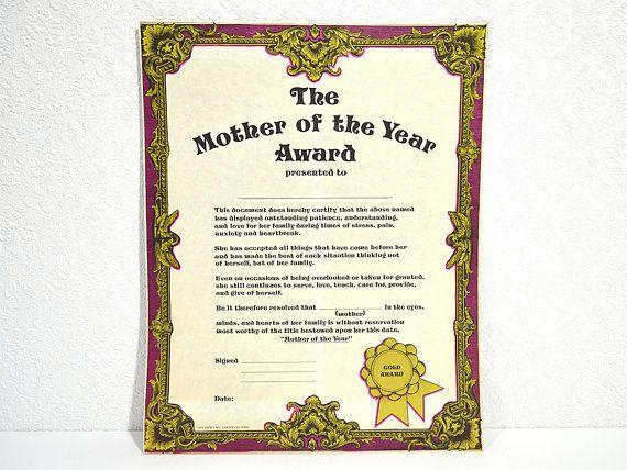 best mom certificate template