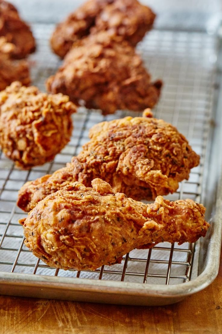 How To Make Homemade Crispy, Juicy Fried Chicken (That's Better Than KFCs Original Recipe). This easy copycat recipe makes the BEST southern Kentucky style soul food. Serve it on a sandwich or at a picnic. Use Breast, Thighs, and drumsticks and a dry brine for ultimate flavor. You'll need buttermilk, spices, bone-in chicken, vodka, egg whites, flour, and a few more ingredients. Simple step by step photos make this easy!