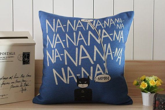 Linen Pillow Pillow cover Cushion cover  Batman pillow