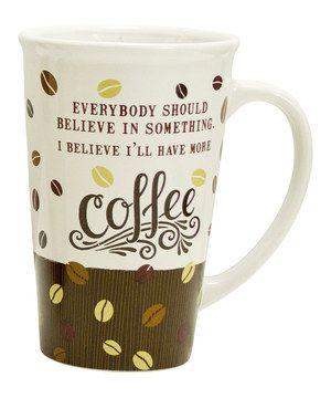 Boston Warehouse 'Believe In Coffee' Mega Mug | Cas, The o ...