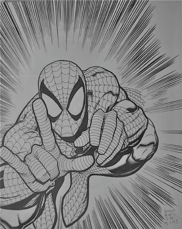 Spiderman drawing Comic Art