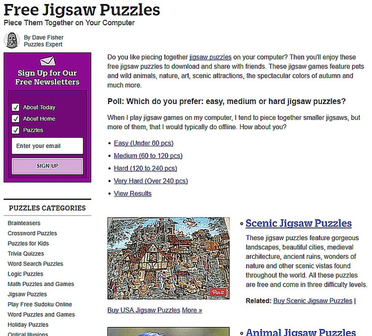 Play Jigsaw Puzzles Online for Free at These Sites