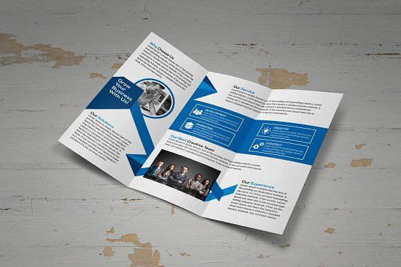 Corporate Trifold Brochure by designsoul14 on @creativemarket