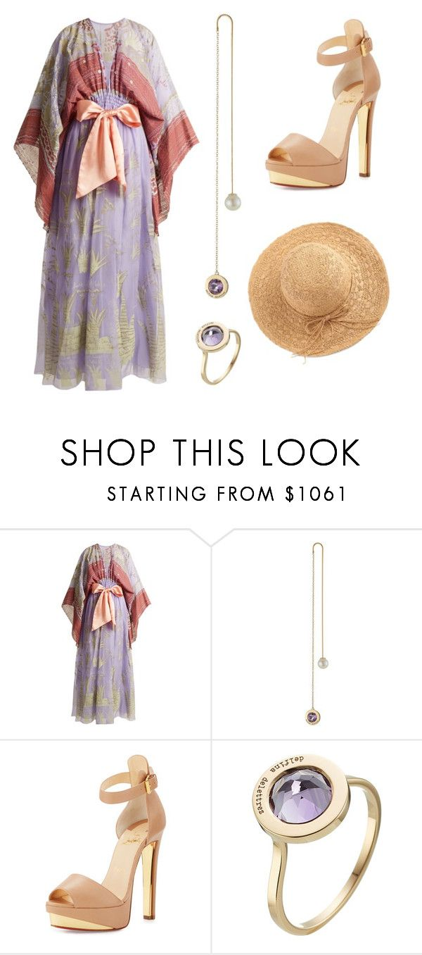"""-"" by naz0709 ❤ liked on Polyvore featuring Zandra Rhodes, Delfina Delettrez, Christian Louboutin and WithChic"