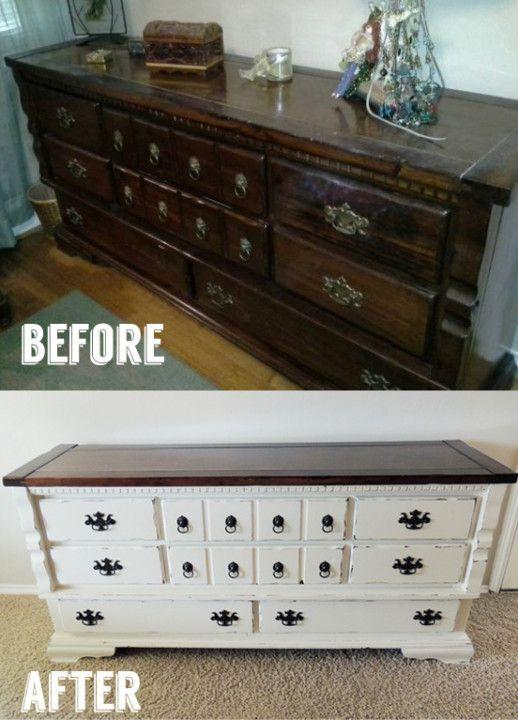 家具 リメイク before after | 古びたチェストをペイントする ...