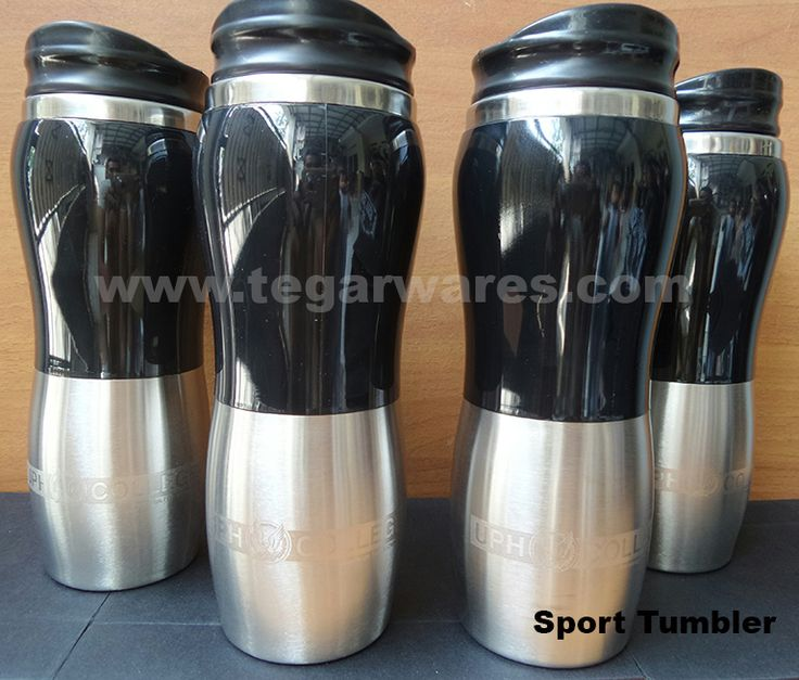 port Tumbler 450ml capacity Size: 22 x 6.5 x 6.5cm, Capacity: 450ml. Color: Black, Blue, Orange, Red Whether you're looking for unique promotional products to merchandise your company? Tumbler Sport types can be your choice. Made of steel with a material that is safe to use. Attending the two-tone design in black and silver colors, ideal for companies that want goods or merchandise exclusive promotions. To order a certain amount can print your company name and logo.
