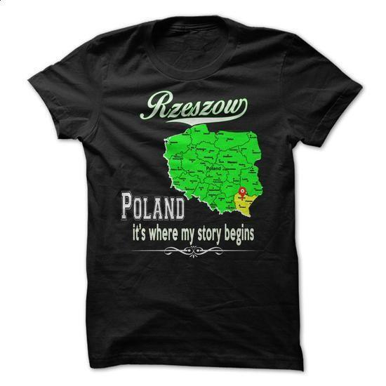 Rzeszow Poland Thats Where My Story Begins - teeshirt dress #t shirt designer #grey sweatshirt