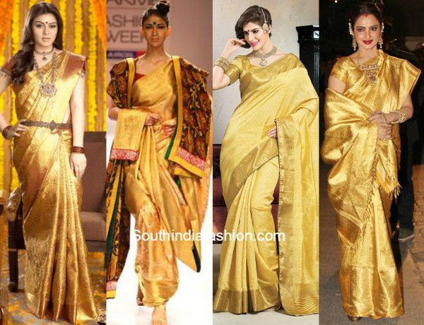 Going golden : Golden Kanjeevarams to make you shine on your big day!