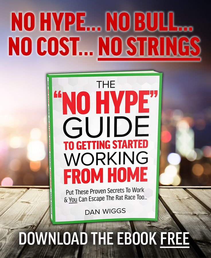 "Discover the top ways regular people are quitting their jobs and enjoying life in the brand new ""No Hype"" Guide To Getting Started Working From Home. Download the ebook edition FREE!"