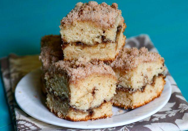 Cinnamon Streusel Coffee Cake by the bakerchick: Made with greek yogurt. #Coffee_Cake