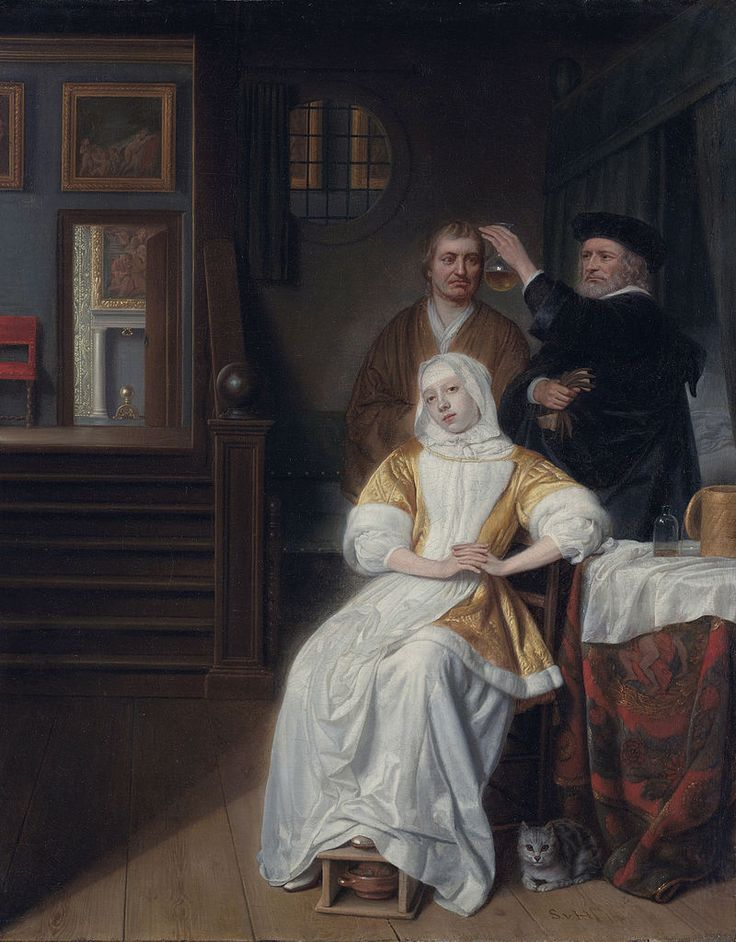 Samuel van Hoogstraten - The Anaemic Lady, c. 1667