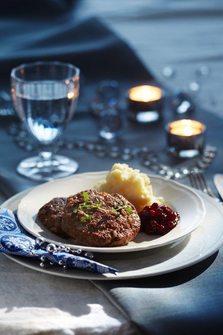 Poro-kantarellipihvit   K-ruoka  #sienet