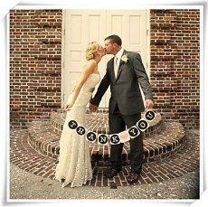 """""""Thank you"""" , Hochzeitsdekoration, aus Karton,Pappe, Vintage-Stil,Hochzeits-Girlande, Banner, Foto Requisite Designs, Pappe, Thank You - Black Square"""