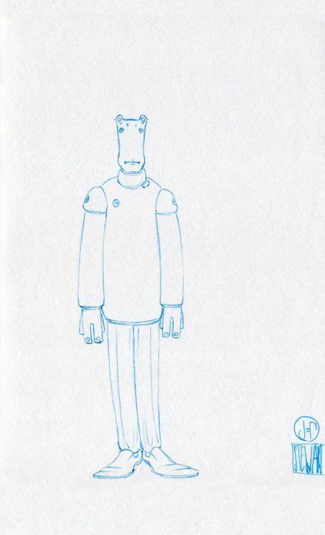 Challenge Day 181 Year 3  Zebra Z-Grip Med 0.5mm Light Blue nib pen on Studio Sketchbook  Daily Character Design Challenge, 2017-11-22, Year 3 - No181b, by Jeff Stewart #creature #alien #365_day_challenge #oc #conceptart #CharacterDesign #CharacterChallenge #original_character #character_art #concept #challenge #drawing #sketch #line_art #lineart #line_drawing #linedrawing #art #artist #artists_on_tumblr #sci_fi #scifi #character_design #concept_art #character_challenge