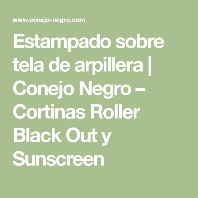 Estampado sobre tela de arpillera   Conejo Negro – Cortinas Roller Black Out y Sunscreen