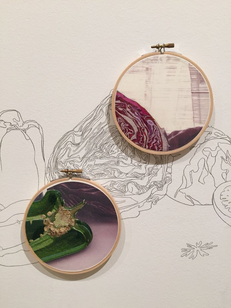 Monica Bengoa's extraordinary embroidery on photograph with wall drawing. In Thread Lines at the Drawing Center, NYC.