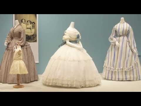 How cotton was used in clothing during the American Civil War. Video by Kent State Univ. Museum. (Some of the dresses it shows can be seen elsewhere on this board.)