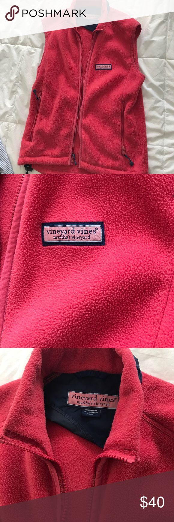 Vineyard Vines XS vest Nantucket red colored Super soft, worn once vest vest Vineyard Vines Jackets & Coats Vests