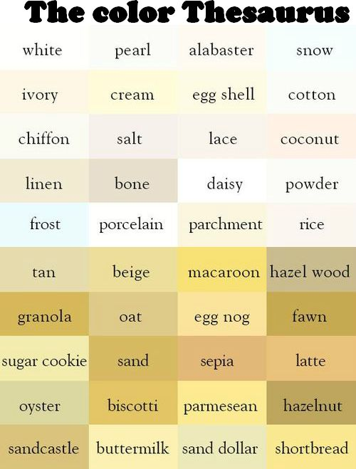 63 best colour thesaurus and words images on pinterest | colors